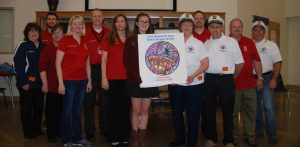 Steamboat Days volunteers present button award